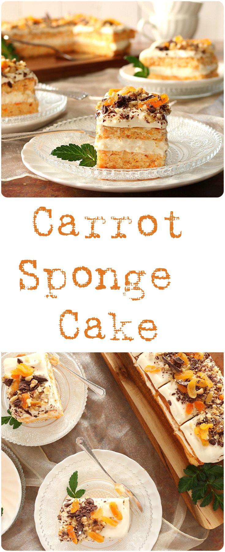 Carrot Sponge Cake | Tania\'s Kitchen | ▻ Food Group ◅ | Pinterest