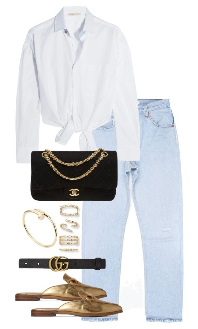 """""""Untitled #4366"""" by theeuropeancloset on Polyvore featuring Maje, Chanel, Aéropostale, Gucci and Cartier"""