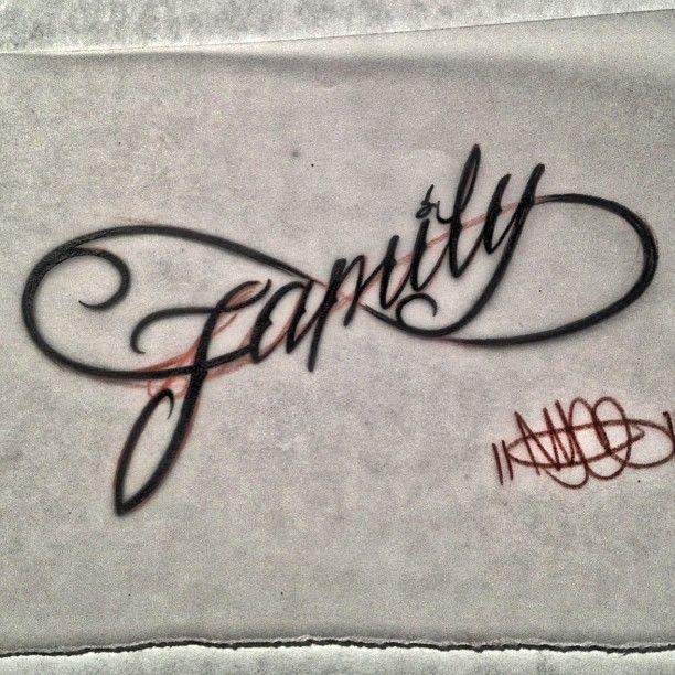 infinity family tattoo nycelettering