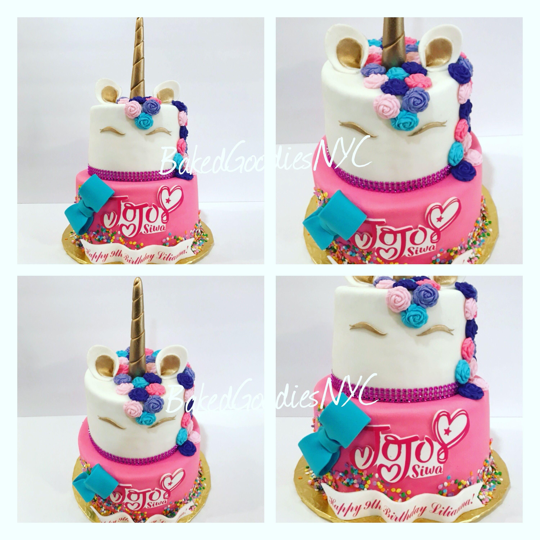 Unicorn Jojo Siwa Cake Jojo Siwa Birthday Cake Jojo Siwa