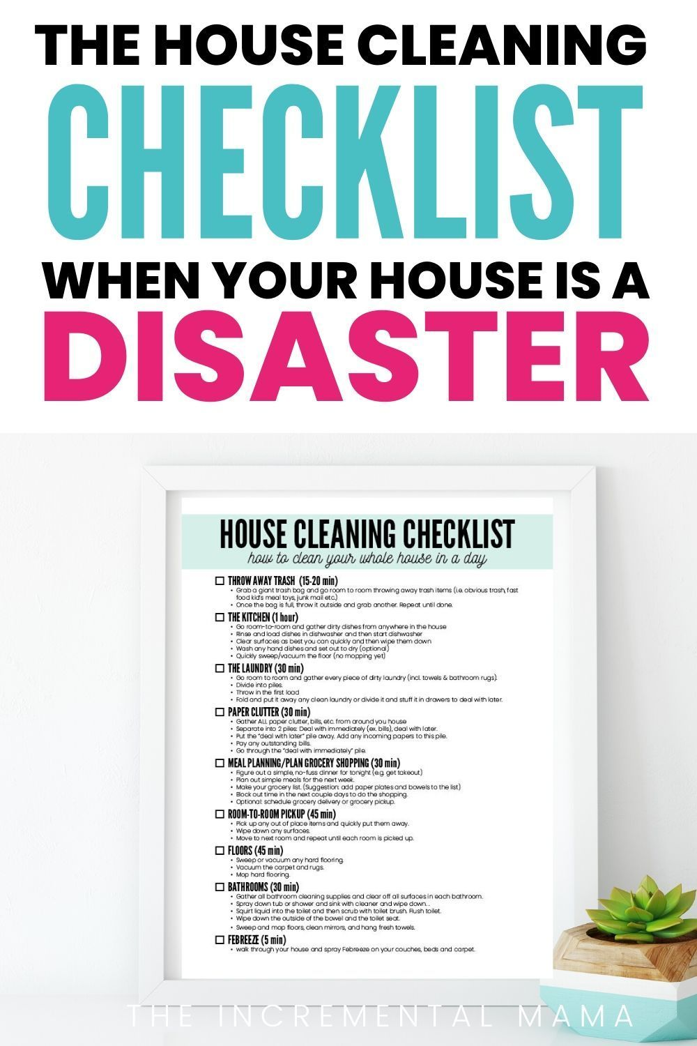 Sick Of Your Messy House Learn How To Clean Your Messy House Fast From Disgusting Mess To Clean And In 2020 Clean House House Cleaning Checklist Cleaning Checklist