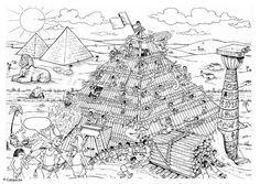 malvorlage bau der pyramide geschichte gypten geschichte pyramiden gypten und altes gypten. Black Bedroom Furniture Sets. Home Design Ideas