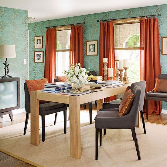 Dining Room Color Schemes: New Home Decor {inspiration
