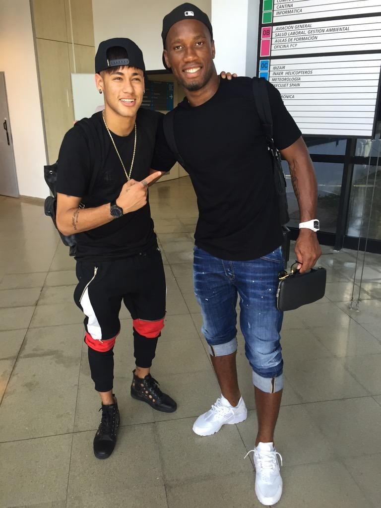 Image result for Didier Drogba with  Neymar