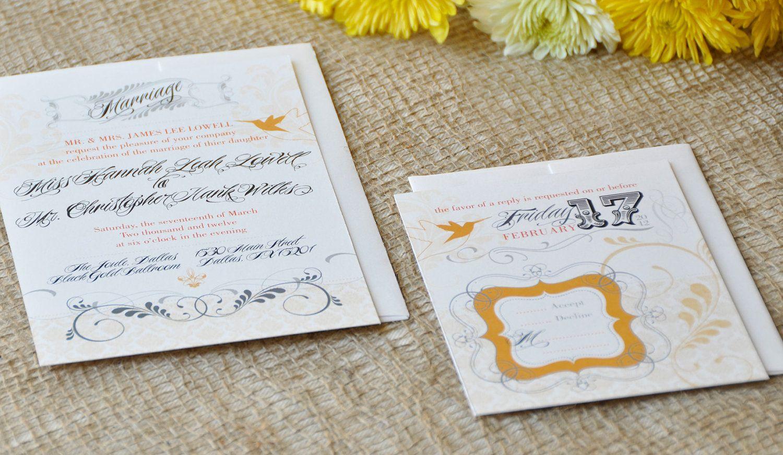 Victorian Hummingbird Wedding Invitation & RSVP by KellaCompany ...
