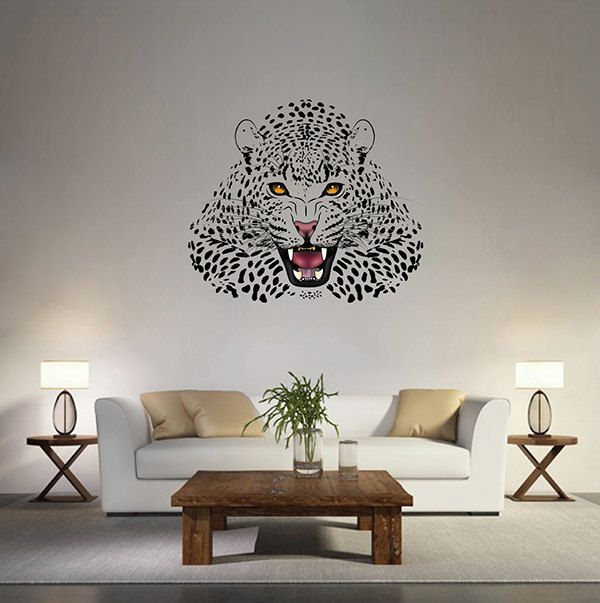 Jaguar Wall Decals Jaguar Wall Decor Animals Wall Decals Home Decor For Kids Room Kcik170 Wall Colors Childrens Bedrooms Animal Wall Decals
