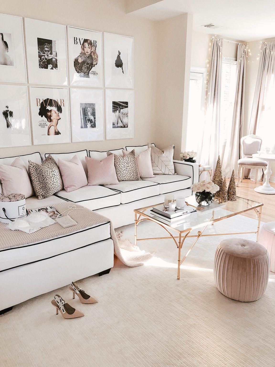 Chanel Glam Inspired Living Room Makeover Living Room Decor Apartment Living Room Makeover Living Room Designs #no #sofa #living #room