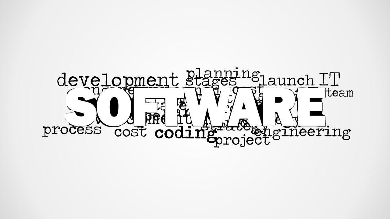 Software Word Cloud Picture for PowerPoint