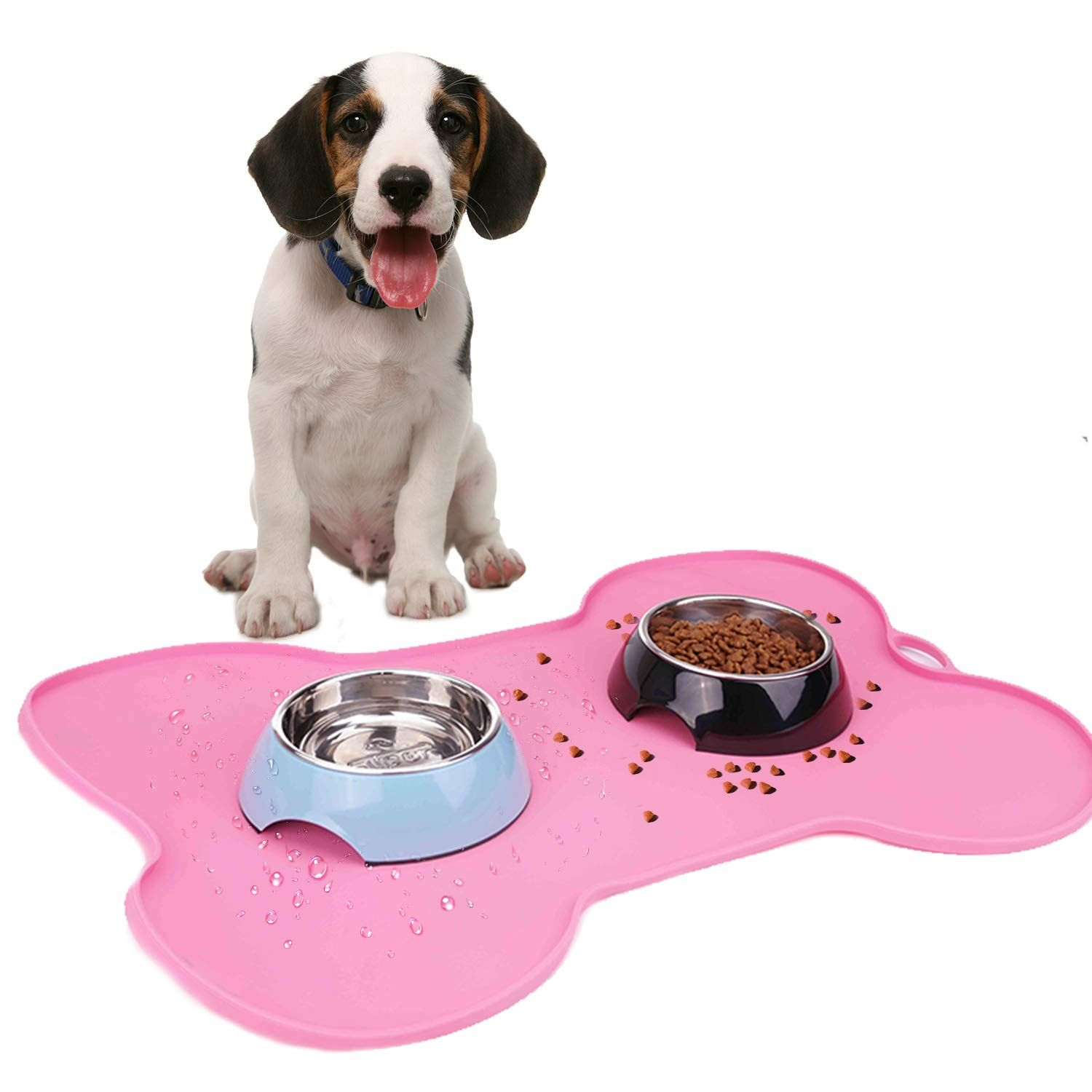 Super Design Silicone Waterproof Placemat Pet Feeding Mat Fda Grade Silicone Dog Cat Bowl Mat See This Great Product It Is An Affil Cat Bowls Dog Cat Pets