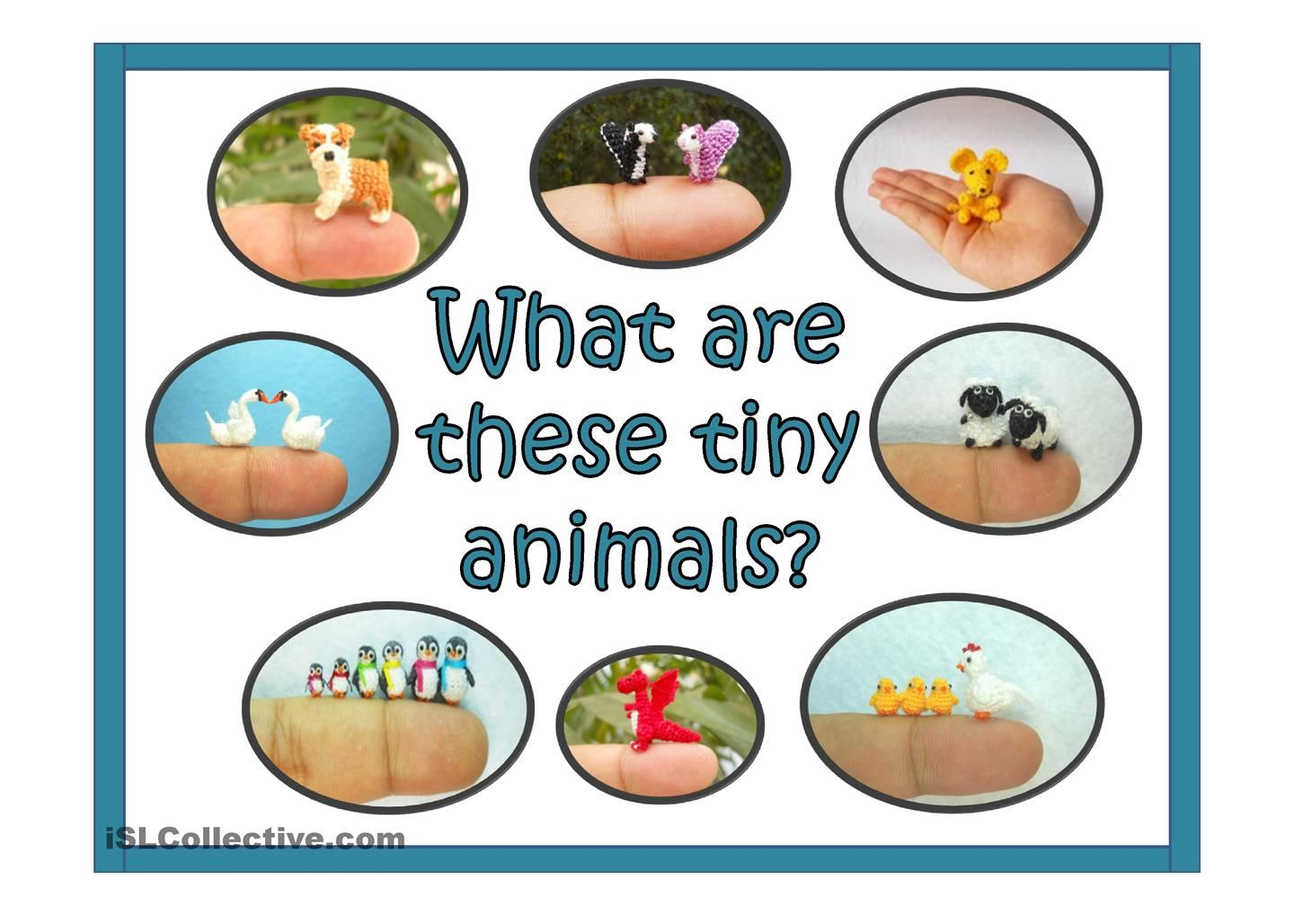 What Are These Tiny Animals Worksheet Esl Powerpoint
