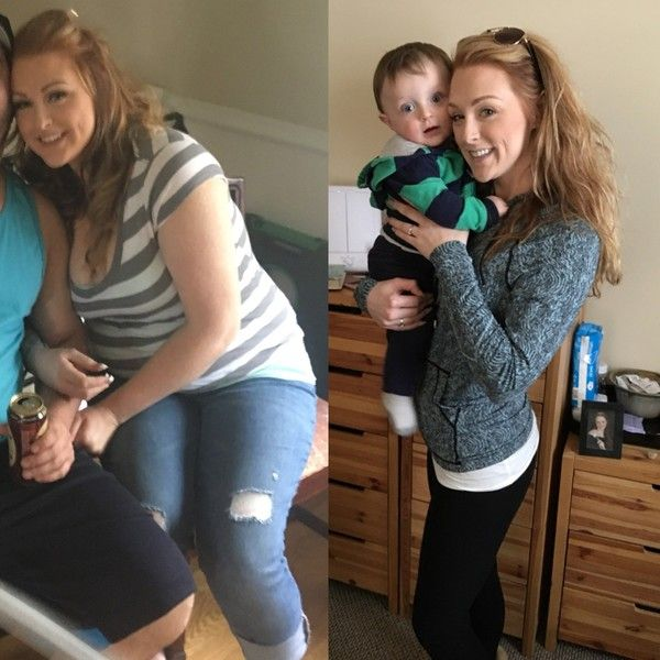 После родов похудела