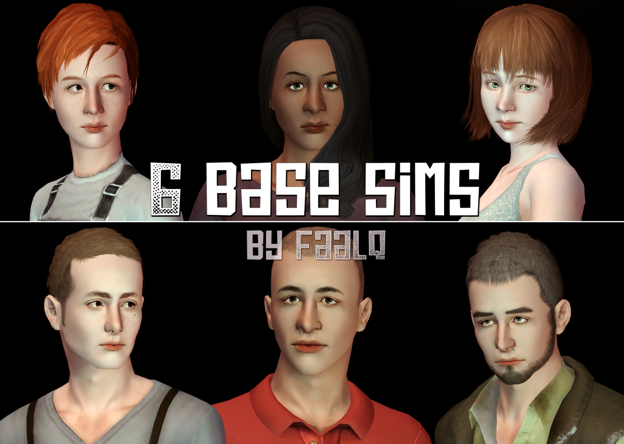 faalq 6 BASE SIMS The download includes the sims shown in