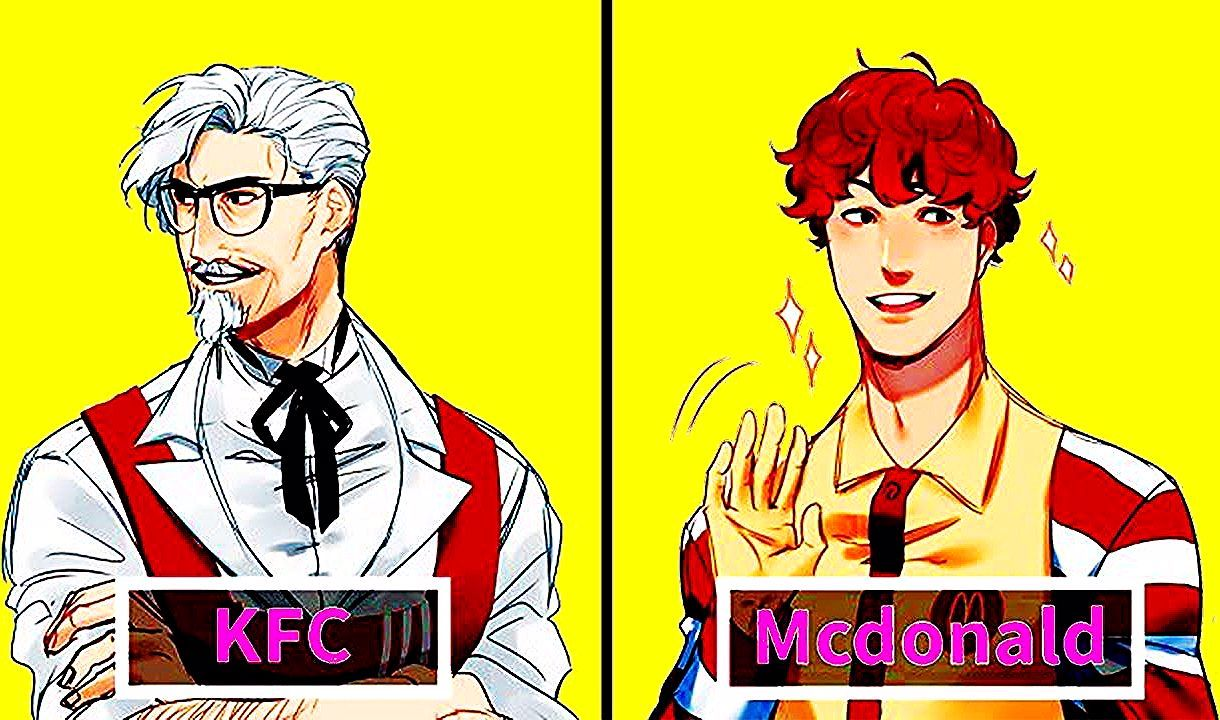 Illustrator Turns Famous Fast Food Mascots Into Anime Characters