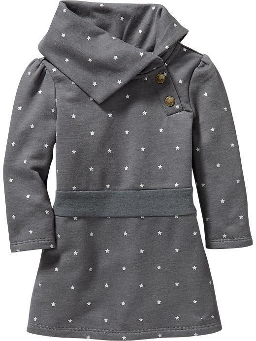 T&G Fleece Cowl-Neck Dresses for Baby