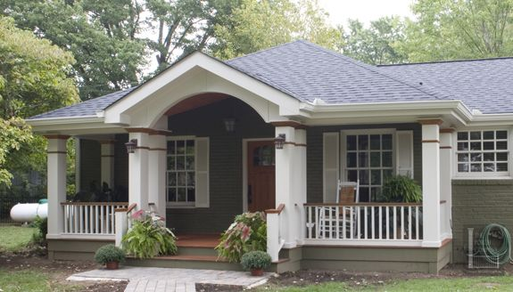 Hip Roof Porch With Gable By Porch Co Nashville Not Sure If This Is Doable Or Not Porch Roof Styles Front Porch Addition Front Porch Design