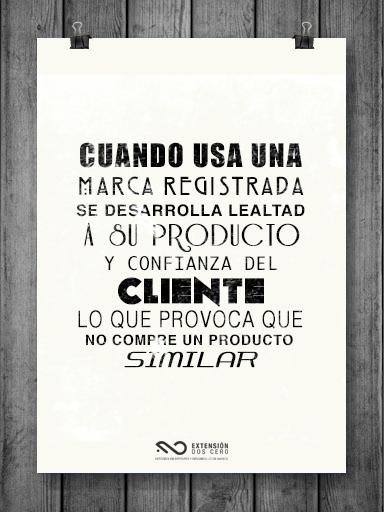 Los clientes y la marca registrada