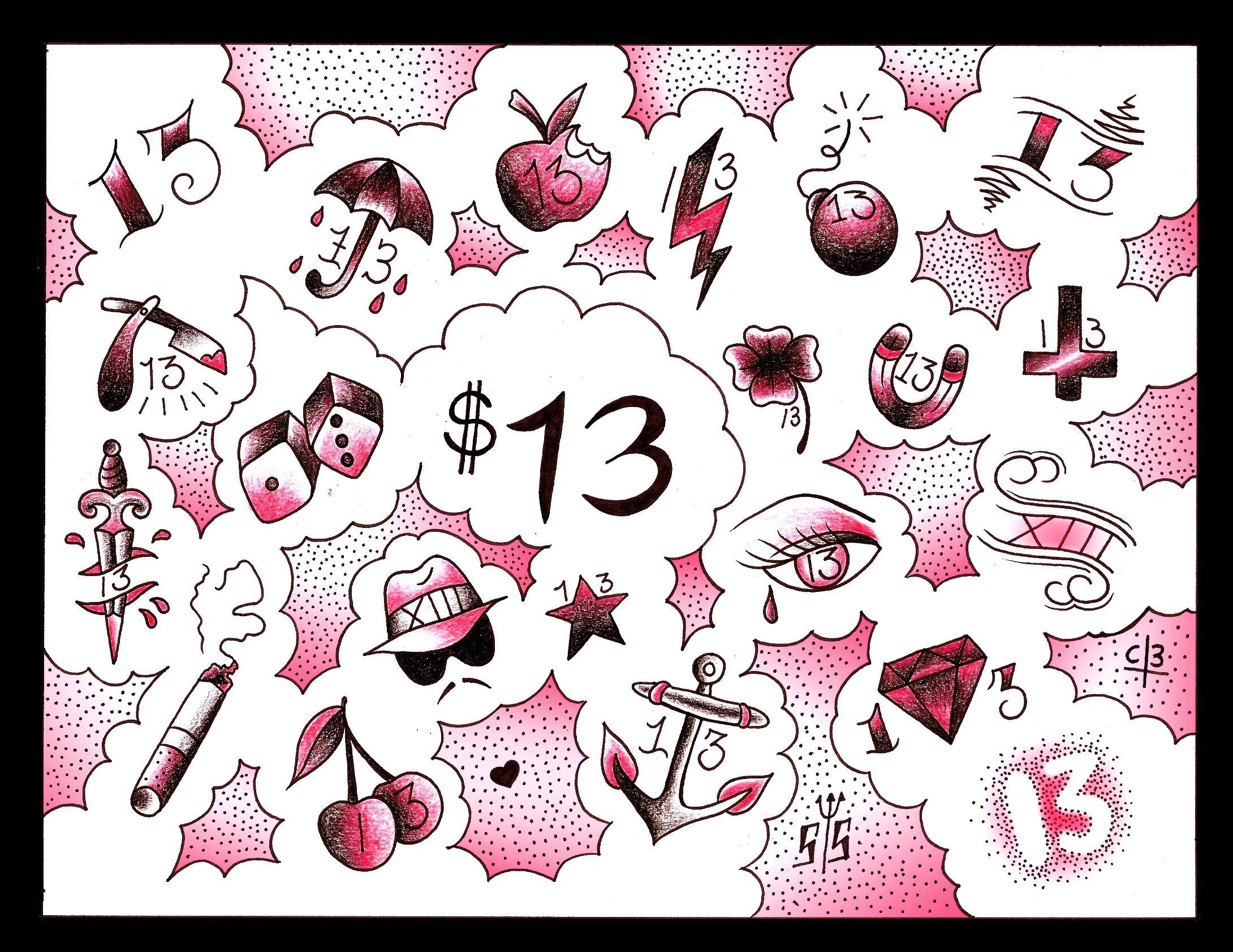 Friday 13th Tattoo Ideas: Friday13flash.jpg (2180×1684)