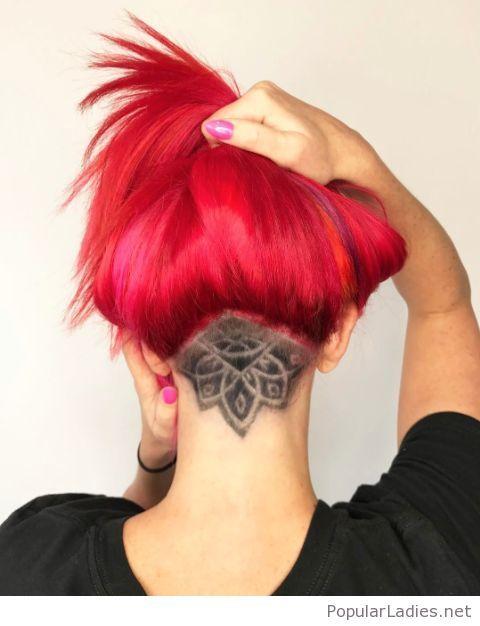 Red hair and an undercut