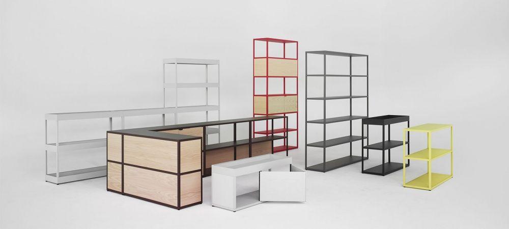 Composition 1 Etageres New Order Hay Blou Paris Mobilier Mobilier Design Decoration Loft