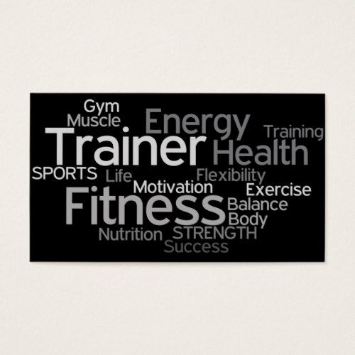Personal trainer business card pinterest personal trainer business card colourmoves