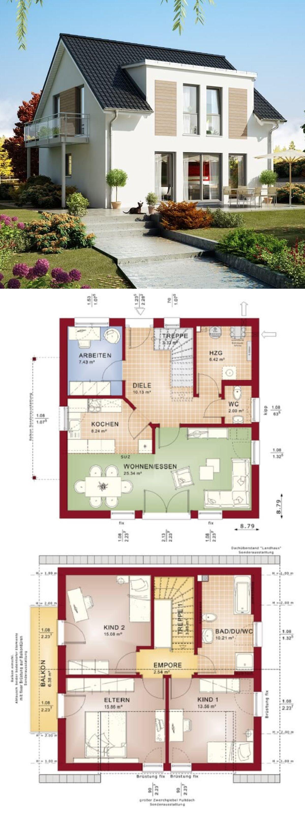 Einfamilienhaus mit Satteldach - Haus Celebration 125 V5 Bien Zenker ...