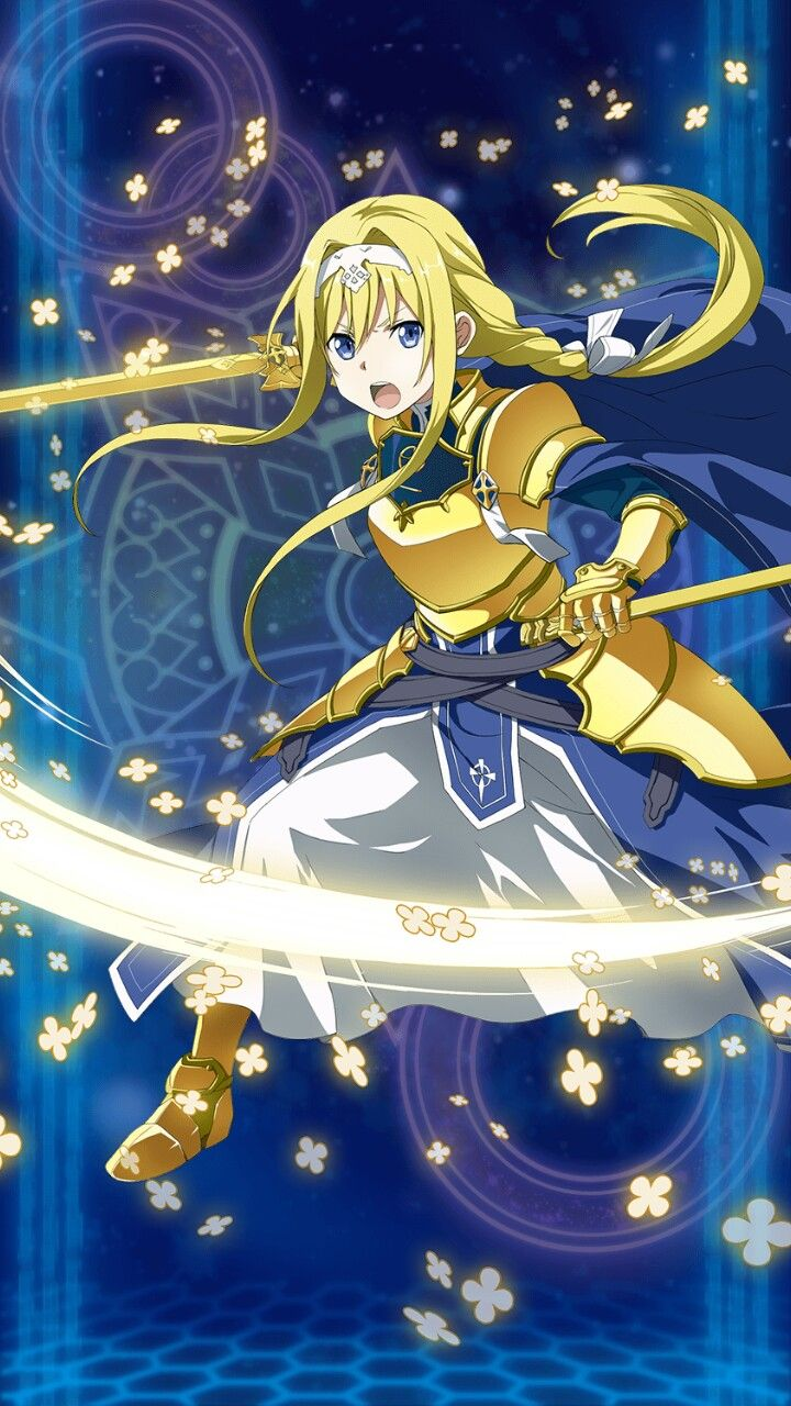 Golden Knight Alice Sword Art Online Memory Defrag Sword Art