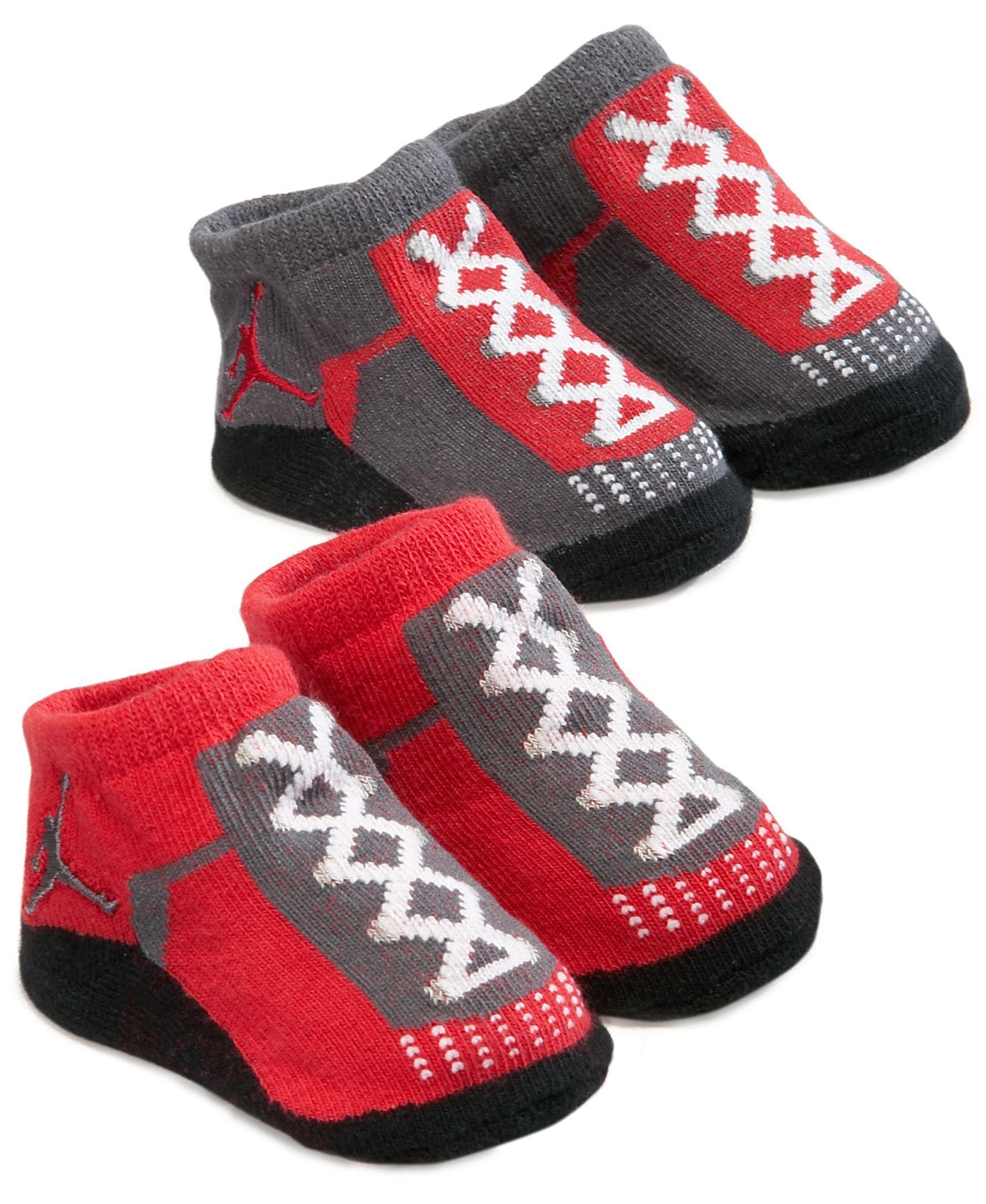 Jordan Baby Socks Baby Boys 2 Pack Booties