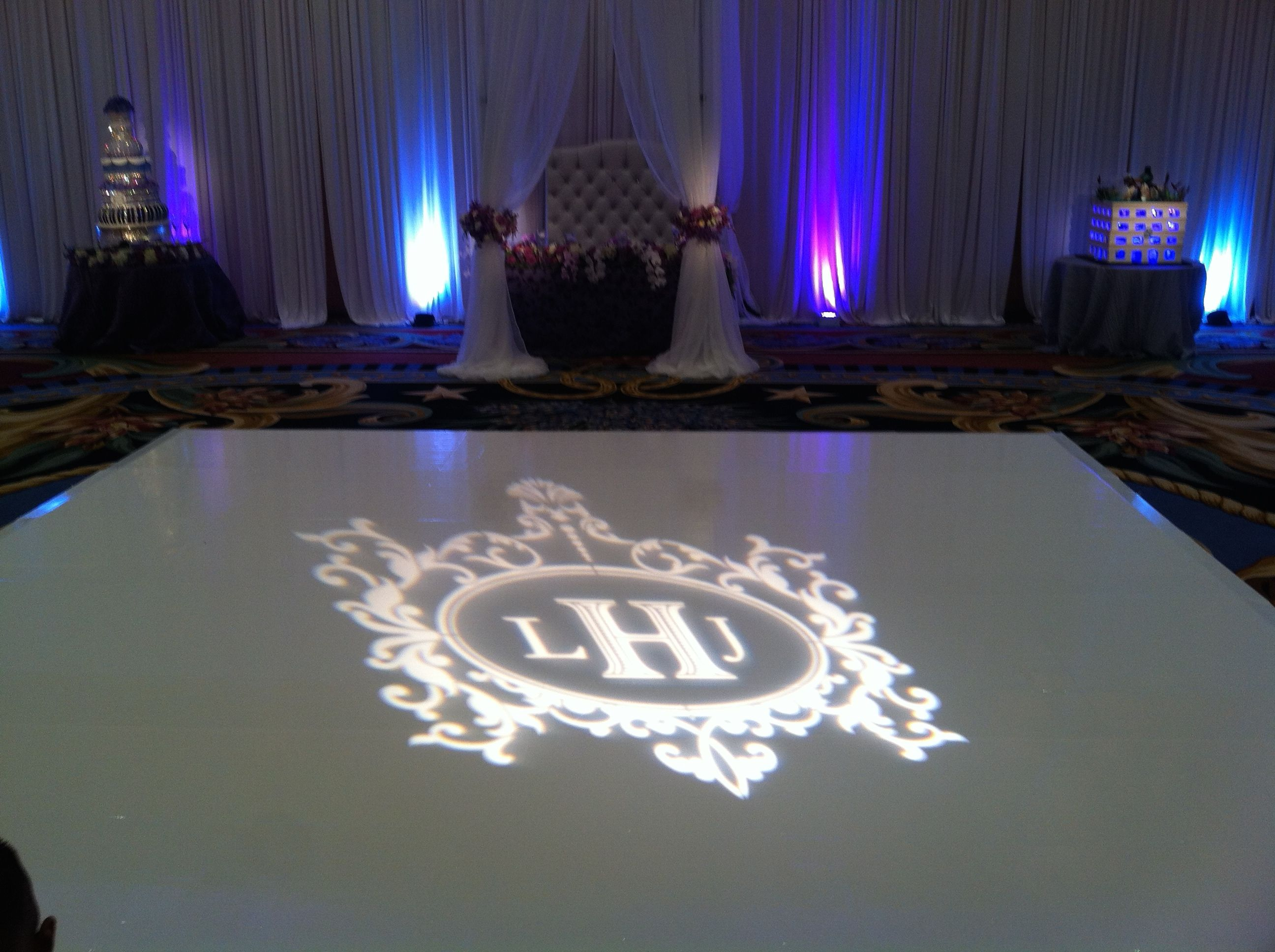 Gaylord Hotel Grapevine Texas Wedding Gobo Projection
