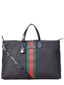 8ea60e4c4df8 Save 29% on the Gucci New Small Weekender In Black Travel Bag! This travel  bag is a top 10 member favorite on Tradesy.