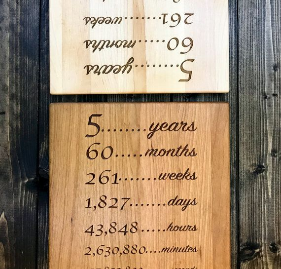 5 Year Anniversary Gift Wood Gift For 5th Anniversary 5th Wood Anniversary Gift 5 Year Anniversary Gift Year Anniversary Gifts