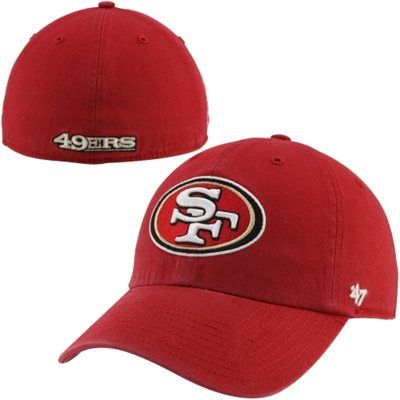 '47 Brand San Francisco 49ers BCA Primary Logo Franchise Fitted Hat - Scarlet