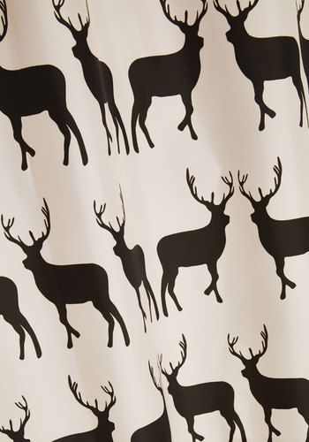 Stags To Riches Shower Curtain Mod Retro Vintage Bath Modcloth Com Vintage Bath Deer Shower Curtain Home Gifts