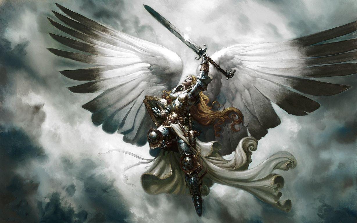 Serra Angel Magic The Gathering Fantasy Angel Warrior Angel