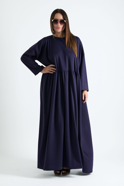 00d71030e63 Purple Autumn Dress