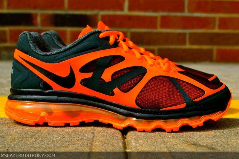 Nike Air Max 2012 Anthracite Black Total Orange | Sneakers