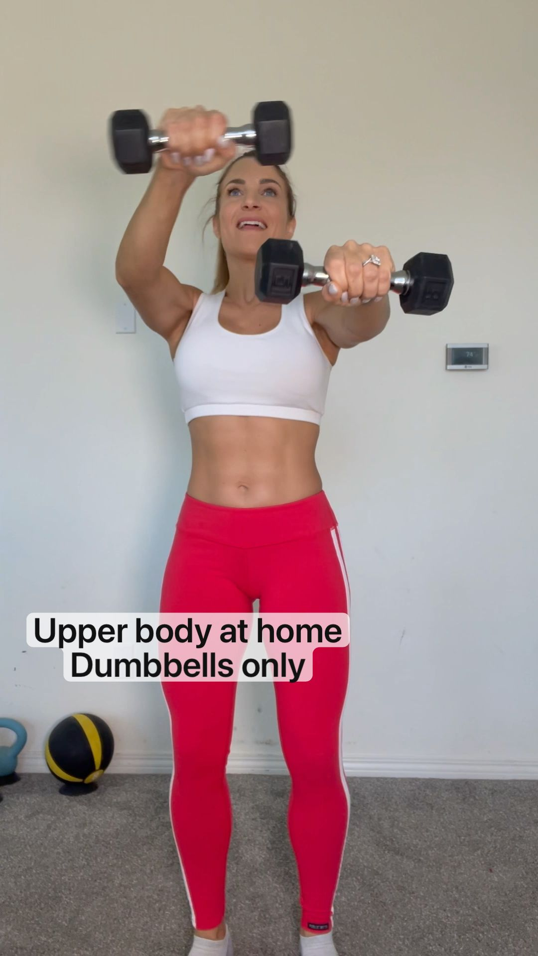 Upper body at home  Dumbbells only