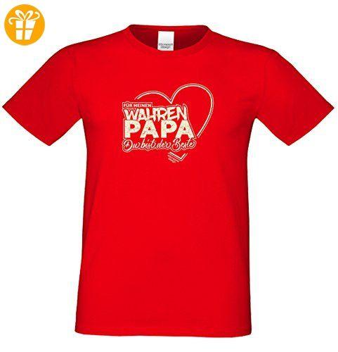 Geschenk Idee, Geburtstagsgeschenk Vater T-Shirt Funshirt Für meinen wahren  Papa zum Vatertag,