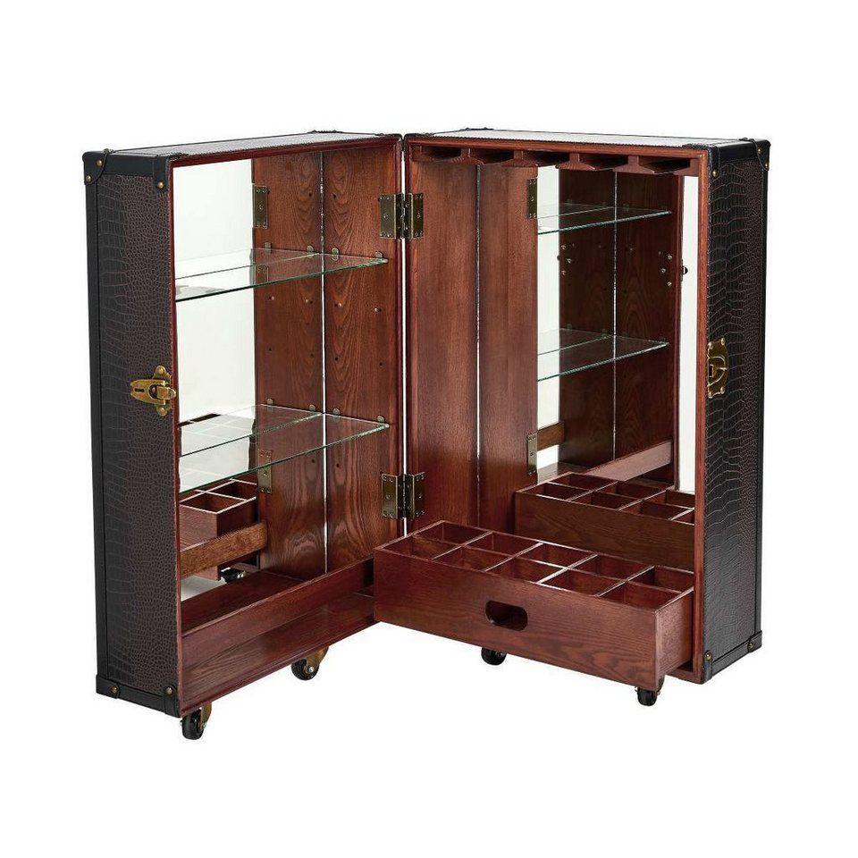 Wohnzimmer spiegelmöbel butlers hemingway minibarschrank mit spiegel in   another