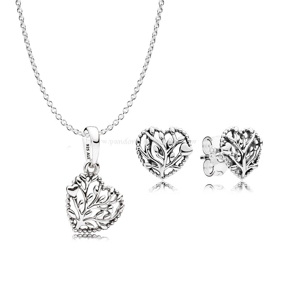 2ddf5cd6ef66b Pandora Dealers Flourishing Hearts Necklace And Earring Gift Set ...
