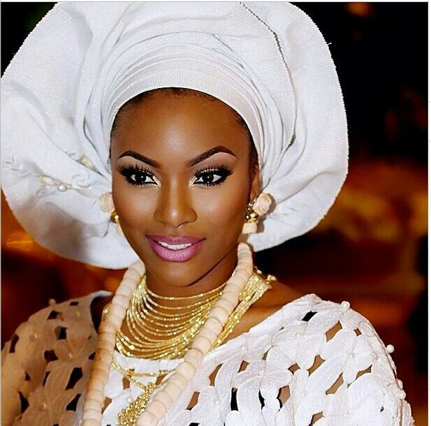 A Nigerian woman on her wedding day
