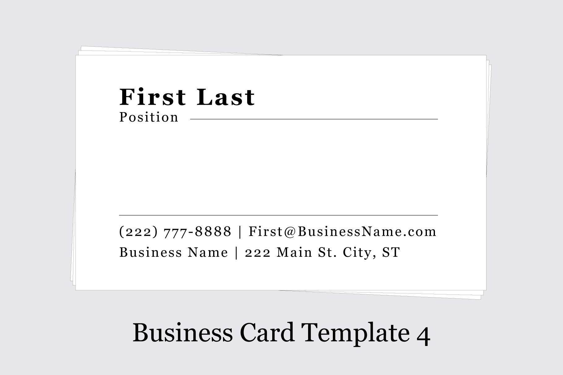 Business Card Template 4 Business Card Template Card Template Cool Business Cards