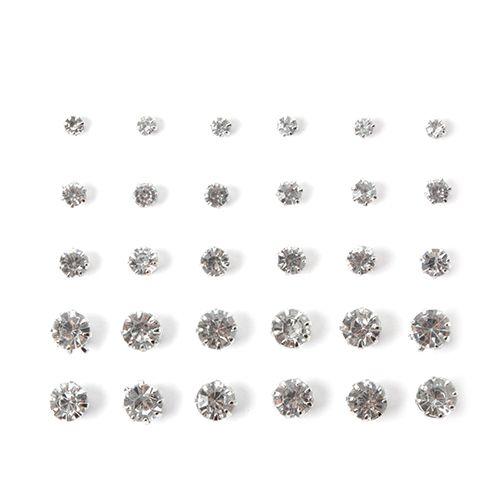 15 Pair Rhinestone Earrings