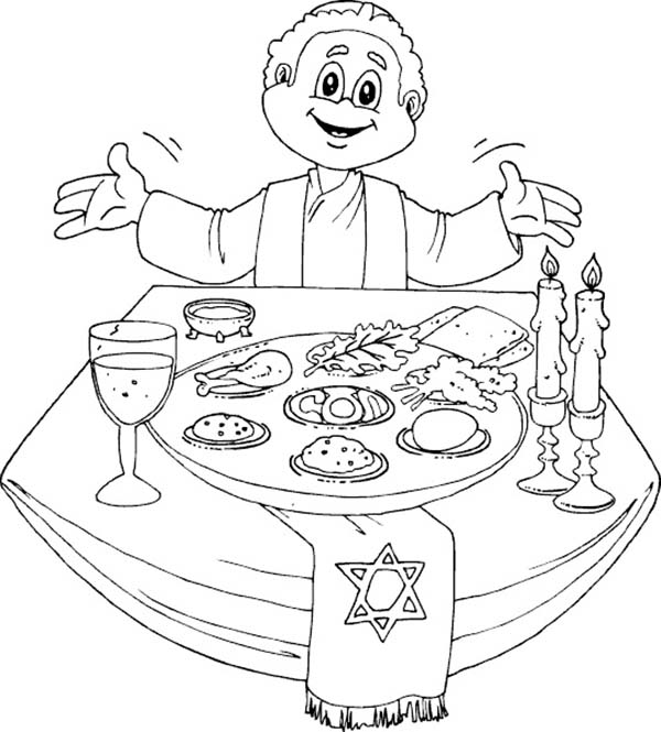 Having A Happy Passover Dinner Coloring Page Download Print Online Coloring Pages For Free Color Online Coloring Pages Coloring Pages Free Coloring Pages