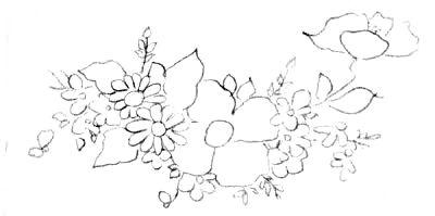 Pintura Em Tecido Flores Papoulas Margaridas E Violetas Com
