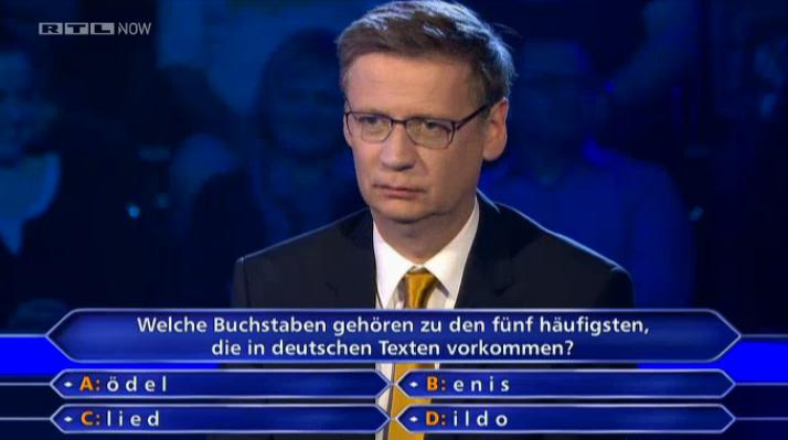 Wer wird Millionär - Was für eine Frage und dann diese Antworten :D