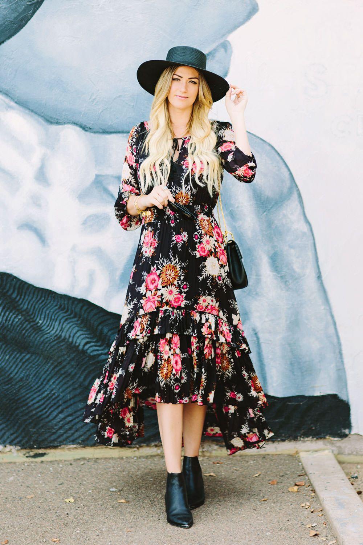 Bohemian Style Bohemian Floral Dress