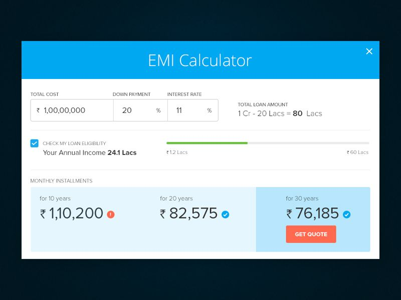 EMI Calculator Calculator and Late work - loan interest calculator