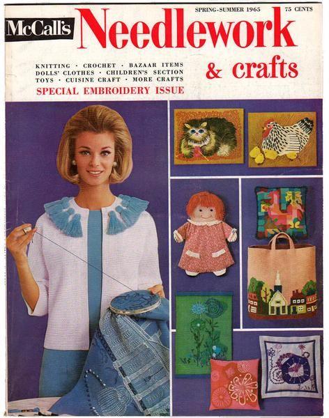 Vintage 1965 Mccalls Needlework Magazine Spring And Summer Doll