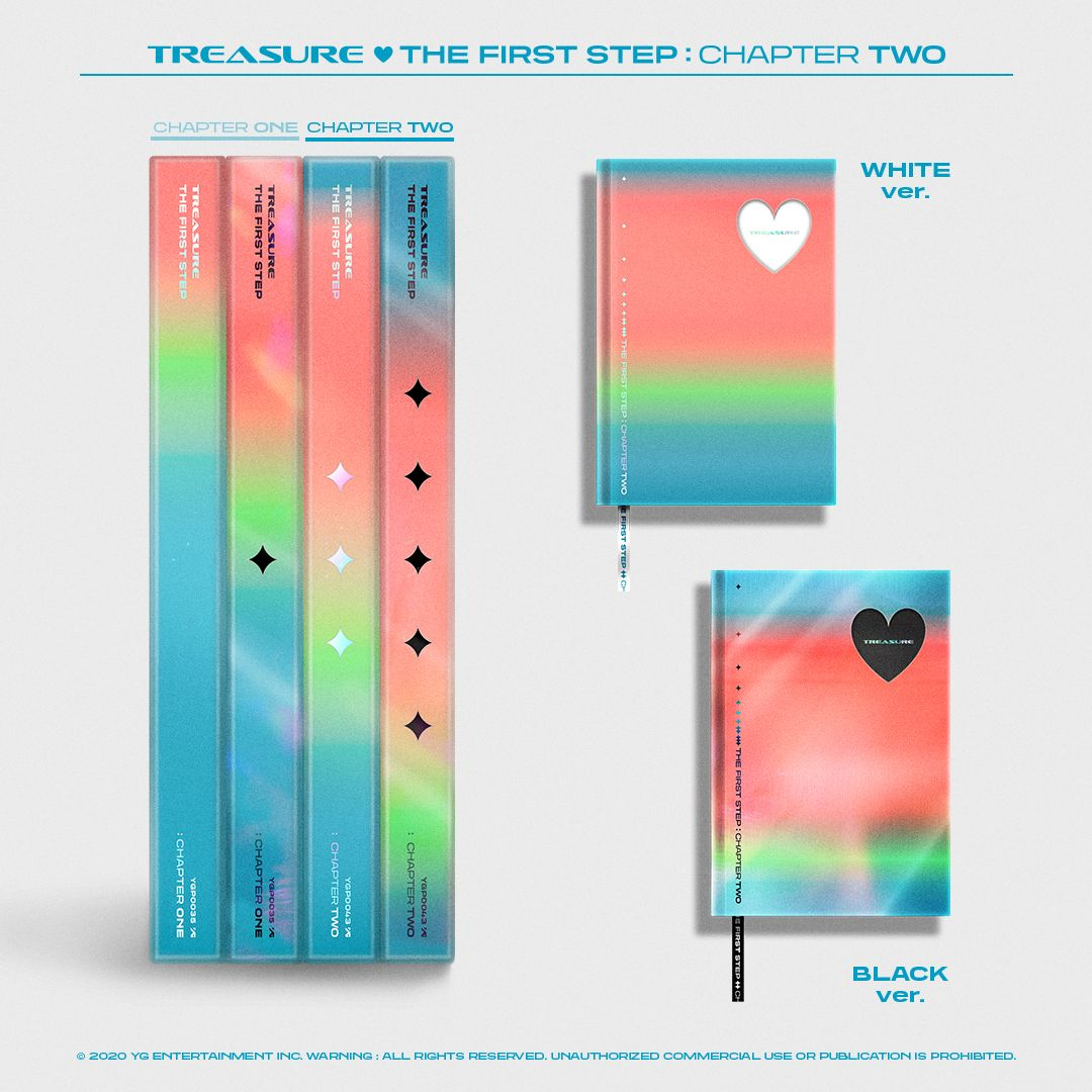 Treasure Chapter One-Three Album Kpop Journal Stickers The First Step