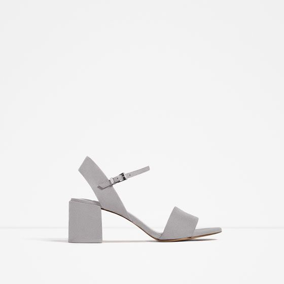 ab8e9b31ab0 block heel sandals from Zara | Shop | Shoes, Sandals, Block heels
